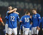 Dean Shiels takes the acclaim from Lee McCulloch