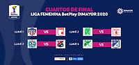 BOGOTA - COLOMBIA, 20-11-2020: Sorteo cuartos de final Liga Femenina BetPlay DIMAYOR 2020 en Bogotá. / Round of 8 draw of Women's League BetPlay DIMAYOR 2020 in Bogota city. Photo: VizzorImage /