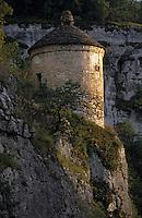 Europe/France/Midi-Pyrénées/46/Lot/Rocamadour: Détail pigeonnier