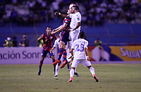 SAN PEDRO SULA, HONDURAS - SEPTEMBER 8: James Sands #16 of the United States with a head ball during a game between Honduras and USMNT at Estadio Olímpico Metropolitano on September 8, 2021 in San Pedro Sula, Honduras.