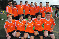 Match officials team photo. 2015 Rippa Rugby World Cup Tournament at Wakefield Park, Wellington, New Zealand on Monday, 14 September 2015. Photo: Dave Lintott / lintottphoto.co.nz