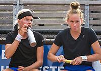 Amstelveen, Netherlands, 7 Juli, 2021, National Tennis Center, NTC, Amstelveen Womans Open, Doubles: Eva Vedder (NED) and Stephanie Judith Visscher (NED) (R)<br /> Photo: Henk Koster/tennisimages.com