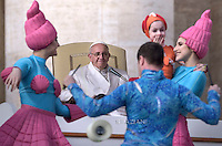 Pope Francis  during his weekly general audience in St. Peter square at the Vatican, Wednesday.January 27, 2016
