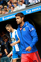 Deportivo de la Coruna's Fede Cartabia (l) and Real Sociedad's Xabi Prieto during La Liga match. September 10,2017.  *** Local Caption *** © pixathlon<br /> Contact: +49-40-22 63 02 60 , info@pixathlon.de