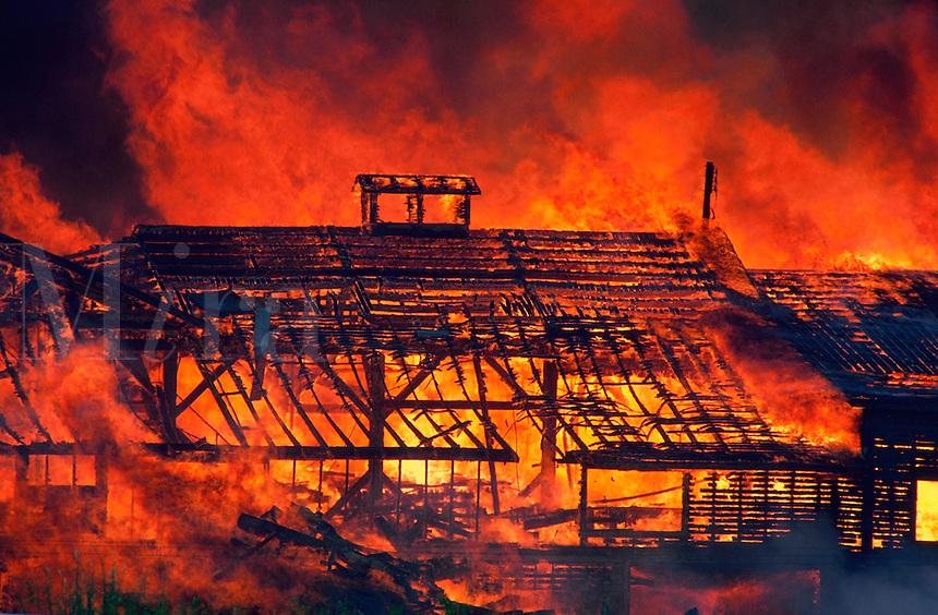 Burning building, Idaho