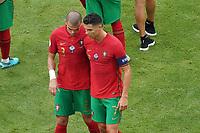 Cristiano Ronaldo (Portugal), Pepe (Portugal) enttäuscht<br /> - Muenchen 19.06.2021: Deutschland vs. Portugal, Allianz Arena Muenchen, Euro2020, emonline, emspor, <br /> <br /> Foto: Marc Schueler/Sportpics.de<br /> Nur für journalistische Zwecke. Only for editorial use. (DFL/DFB REGULATIONS PROHIBIT ANY USE OF PHOTOGRAPHS as IMAGE SEQUENCES and/or QUASI-VIDEO)