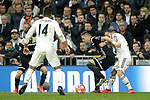 Real Madrid's Carlos Henrique Casemiro, Daniel Carvajal and AFC Ajax's Dusan Tadic during a UEFA Champions League match. Round of 16. Second leg. March, 5,2019. (ALTERPHOTOS/Alconada)