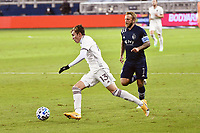 KANSAS CITY, KS - OCTOBER 24: Sam Vines #13 Colorado Rapids with the ball during a game between Colorado Rapids and Sporting Kansas City at Children's Mercy Park on October 24, 2020 in Kansas City, Kansas.