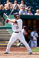 Aaron Conway (11) of the Missouri State Bears at bat during a game against the Wichita State Shockers on April 9, 2011 at Hammons Field in Springfield, Missouri.  Photo By David Welker/Four Seam Images