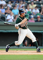 August 13, 2009: Infielder Ben Lasater (23) of the Greensboro Grasshoppers, Class A affiliate of the Florida Marlins, in a game at Fluor Field at the West End in Greenville, S.C. Photo by: Tom Priddy/Four Seam Images