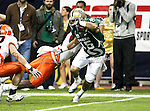Baylor Bears wide receiver Krys Buerck (15) in action during the 2010 Texas  Bowl football game between the Illinois  Fighting Illini and the Baylor Bears at the Reliant Stadium in Houston, Tx. Illinois defeats Baylor 38 to 14....