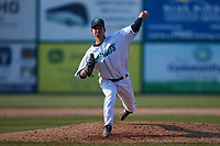 Lynchburg Hillcats relief pitcher Randy Labaut (23) in action against the Myrtle Beach Pelicans at Bank of the James Stadium on May 23, 2021 in Lynchburg, Virginia. (Brian Westerholt/Four Seam Images)