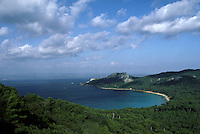 Europe/France/Provence-Alpes-Côte d'Azur/83/Var/Ile de Porquerolles: baie Notre Dame - A l'arrière plan, le Cap des Mèdes