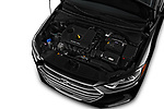 Car stock 2018 Hyundai Elantra Limited 4 Door Sedan engine high angle detail view