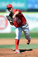 Reading Phillies pitcher Adam Morgan #38 during a game versus the Portland Sea Dogs at Hadlock Field in Portland, Maine on September 3, 2012.  (Ken Babbitt/Four Seam Images)