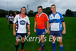 Dave Commerford (Captain of California Golden Oldies), Anthony Clifford (Referee) and John O'Neill (Tralee RFC) as the Tralee Rugby Club Golden Oldies played the Golden Oldies rugby team team from California in O'Dowd Park on Thursday.