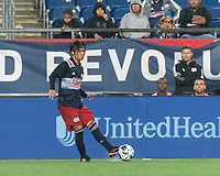 FOXBOROUGH, MA - AUGUST 5: Hikaru Fujiwara #53 of New England Revolution II passes the ball during a game between North Carolina FC and New England Revolution II at Gillette Stadium on August 5, 2021 in Foxborough, Massachusetts.