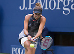 September 9,2017:   Madison Keys (USA) loses to Sloane Stephens (USA) 6-3, 6-0, at the US Open being played at Billy Jean King National Tennis Center in Flushing, Queens, New York.  ©Leslie Billman