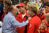 King of Spain. PUMA RACING TEAM .Volvo Ocean Race leg 1 start in Alicante, Spain 11/10/2008 VOLVO OCEAN RACE 2008-2009