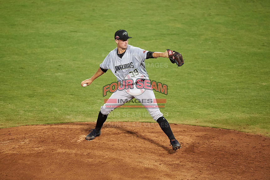 Peoria Javelinas Forrest Whitley (39), of the Houston Astros organization, during an Arizona Fall League game against the Mesa Solar Sox on September 21, 2019 at Sloan Park in Mesa, Arizona. (Zachary Lucy/Four Seam Images)