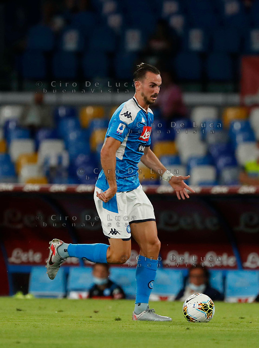Fabian Ruiz of Napoli  during the  italian serie a soccer match,  SSC Napoli - AC Milan       at  the San  Paolo   stadium in Naples  Italy , July 12, 2020