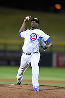 Mesa Solar Sox pitcher Ivan Pineyro (35) during an Arizona Fall League game against the Peoria Javelinas on October 16, 2014 at Cubs Park in Mesa, Arizona.  Mesa defeated Peoria 6-2.  (Mike Janes/Four Seam Images)