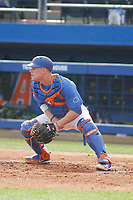 University of Florida Gators catcher Jonah Girand (11) before a game against the Siena Saints at Alfred A. McKethan Stadium in Gainesville, Florida on February 17, 2018. Florida defeated Siena 10-2. (Robert Gurganus/Four Seam Images)