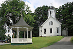 Old building and gazebo in downtown Limerick, Maine, USA