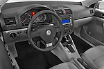 High angle dashboard view of a  2009 Volkswagen Jetta TDI