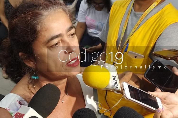 Recife (PE), 19/02/2020 - Carnaval-Recife - Presidente do Hemope, Gessyanne Paulino, durante coletiva na Secretaria de Saude do Recife nesta quarta-feira (19) para divulgacao das acoes e o esquema durante o carnaval na cidade. (Foto: Bruno Lafaiete/Codigo 19/Codigo 19)