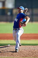 Texas Rangers minor league pitcher Eric Brooks #71 during an instructional league game against a Korean All-Star team at the Surprise Stadium Complex on October 13, 2012 in Surprise, Arizona.  (Mike Janes/Four Seam Images)