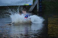 FIERLJEPPEN: BURGUM: 07-06-2013, Nationale competitie fierljeppen, Thewis Hobma, ©foto Martin de Jong