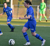 Lorene Martin (6) of KRC Genk with the ball during a female soccer game between  Racing Genk Ladies and White Star Woluwe on the 8 th matchday of play off 2 in the 2020 - 2021 season of Belgian Scooore Womens Super League , tuesday 18 th of May 2021  in Genk , Belgium . PHOTO SPORTPIX.BE | SPP | JILL DELSAUX