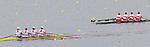 Rowing, United States Women's quadruple sculls, Margot Schumway, Sarah Trowbridge, Megan Kalmoe, Natalie Dell, Note Canada trailing, repechage, November 3, 2010, 2010 FISA World Rowing Championships, Lake Karapiro, Hamilton, New Zealand,