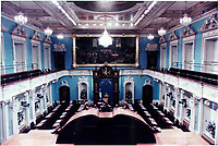 Quebec, 1997 Archive. Quebec National Assembly, where the deputies of the different parties have their seats.<br /> Photo : (c) Pierre Roussel, 1997<br /> KEYWORDS : Quebec National Assembly.