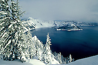 M00070.tif   Crater Lake after snowfall. Crater Lake National Park, Oregon