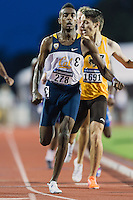 Eugene Hamilton III of California competes in 800 meter prelims during West Preliminary Track and Field Championships, Friday, May 29, 2015 in Austin, Tex. (Mo Khursheed/TFV Media via AP Images)
