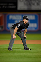 Umpire Jacob Metz during an Eastern League game between the Trenton Thunder and Reading Fightin Phils on August 16, 2019 at FirstEnergy Stadium in Reading, Pennsylvania.  Trenton defeated Reading 7-5.  (Mike Janes/Four Seam Images)