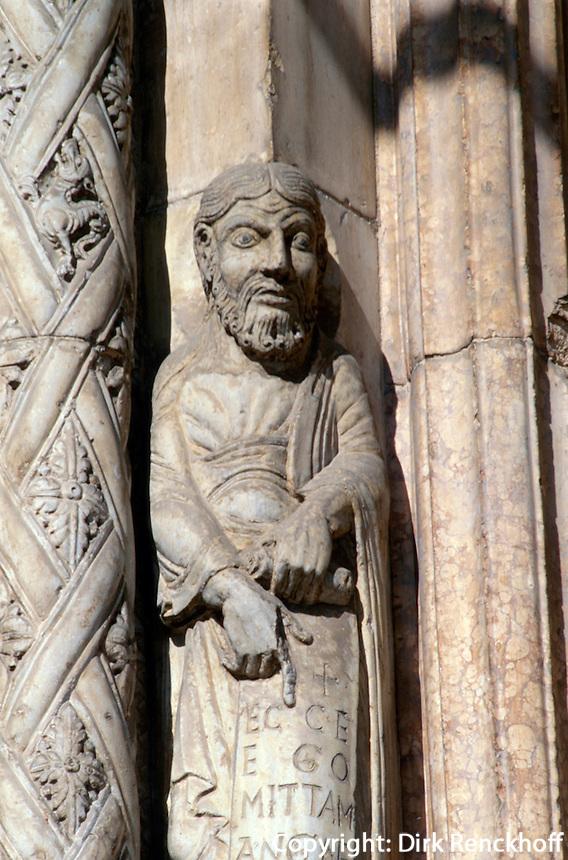 Dom Santa Maria, Detail in Verona, Venetien, Italien, Unesco-Weltkulturerbe