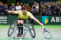 Rotterdam, The Netherlands, 14 Februari 2019, ABNAMRO World Tennis Tournament, Ahoy, Wheelchair final doubles, Gorden Reid (GBR), <br /> Photo: www.tennisimages.com/Henk Koster