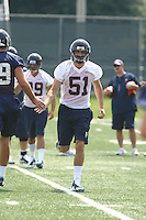 Connor McCartin during open spring practice for the Virginia Cavaliers football team August 7, 2009 at the University of Virginia in Charlottesville, VA. Photo/Andrew Shurtleff