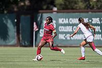 STANFORD, CA - SEPTEMBER 12: Naomi Girma during a game between Loyola Marymount University and Stanford University at Cagan Stadium on September 12, 2021 in Stanford, California.