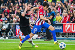Nicolas Gaitan (r) of Atletico de Madrid battles for the ball with Roberto Hilbert of Bayer 04 Leverkusen during their 2016-17 UEFA Champions League Round of 16 second leg match between Atletico de Madrid and Bayer 04 Leverkusen at the Estadio Vicente Calderon on 15 March 2017 in Madrid, Spain. Photo by Diego Gonzalez Souto / Power Sport Images