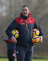 Manager Paul Clement gives instructions to his players during the Swansea City Training at The Fairwood Training Ground, Swansea, Wales, UK. Wednesday 01 November 2017
