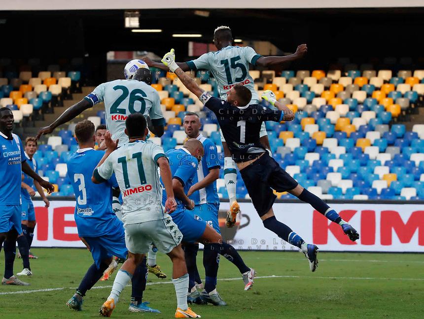 Victor OsimhenKalidou Koulibaly during a friendly match Napoli - Pescara  at Stadio San Paoli in Naples