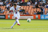 Dwight Gayle of Crystal Palace scores his hatrick against Barnet to make it 1-3 during the Friendly match between Barnet and Crystal Palace at The Hive, London, England on 11 July 2015. Photo by David Horn.
