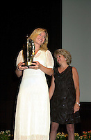 Sept 2, 2002, Montreal, Quebec, Canada<br /> <br /> Maria Bonnevie, receive a  award for the movie I AM DINA,<br />  by Ole Bornedal ,at the closing ceremony of the 2002 Montreal World Films Festival, Sept 2 2002, in  Montreal, Quebec, Canada<br /> <br /> <br /> Mandatory Credit: Photo by Pierre Roussel- Images Distribution. (©) Copyright 2002 by Pierre Roussel <br /> <br /> NOTE : <br />  Nikon D-1 jpeg opened with Qimage icc profile, saved in Adobe 1998 RGB<br /> .Uncompressed  Uncropped  Original  size  file availble on request.