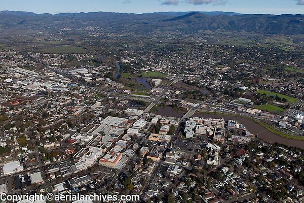 aerial photograph City of Napa, California