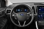 Car pictures of steering wheel view of a 2021 Ford Edge Titanium-FWD 5 Door suv Steering Wheel