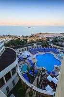 Israel, Galilee, Dead sea,Ein Bokek, Daniel hotel pool view